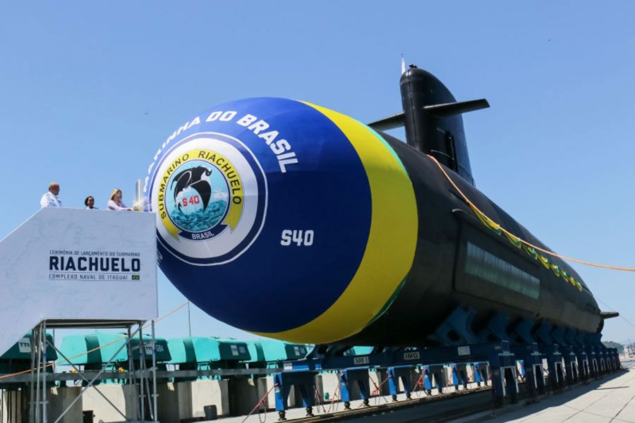 Brazil launches first of four submarines constructed with