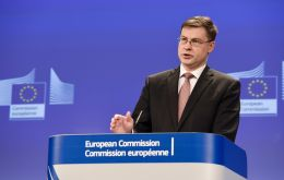 """This is an exercise in damage limitation,"" said commissioner Valdis Dombrovskis, ...a contingency plan was necessary ""given the continued uncertainty in the UK""."