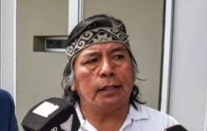Mapuche Community of Neuquén (CMN) spokesman Jorge Nahuel discharges his duties in impeccable Spanish but can only speak a native tongue before the judges.