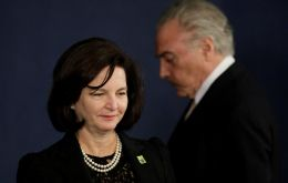 Attorney General Raquel Dodge filed a request late asking the Supreme Court to assign the case to a lower court after Temer loses his limited protections