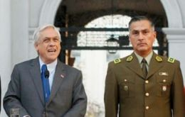 """I have decided to appoint General Mario Rozas Córdova as general director of Carabineros,"" Piñera said in La Moneda Friday."