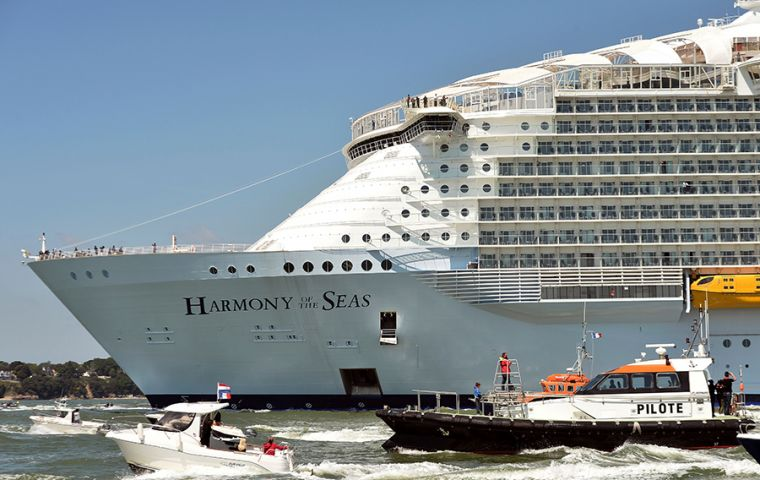 The Harmony of the Seas cruise was traveling from Fort Lauderdale, Florida, to its first stop of St. Maarten island on its seven-day Caribbean itinerary