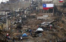 Chile's Housing Ministry said it had identified 822 slums that largely lack access to basic services like water, sewage disposal and electricity