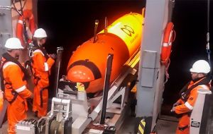 One of the Autonomous Underwater Vehicles, AUVs, with foremost deep-ocean search capability in the world
