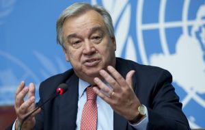 "Mr Guterres responded in a statement, saying that he ""strongly rejects"" the decision, adding that the government must abide by the international deal."