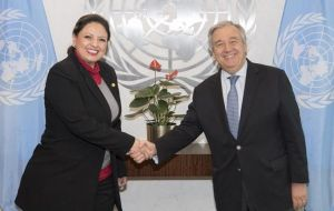 During a meeting with UN Secretary-General Antonio Guterres, Ms Jovel said the UN's CICIG mandate, would be ending.