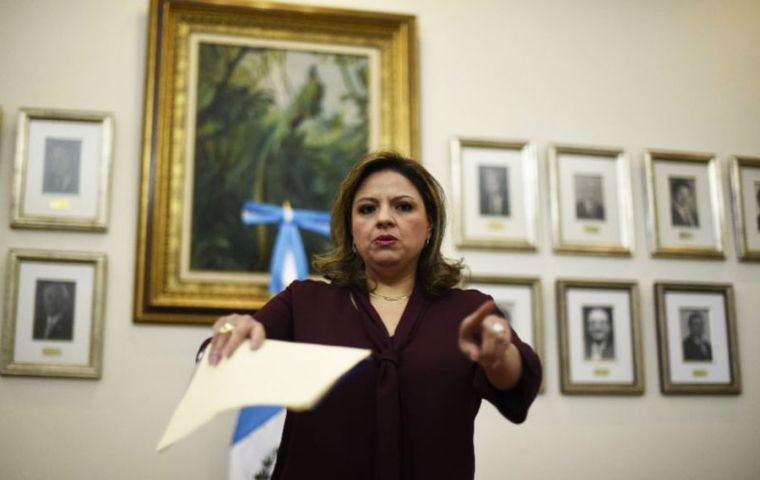 Guatemalan Foreign Minister Sandra Jovel said on Monday that the UN body had 24 hours to leave the country