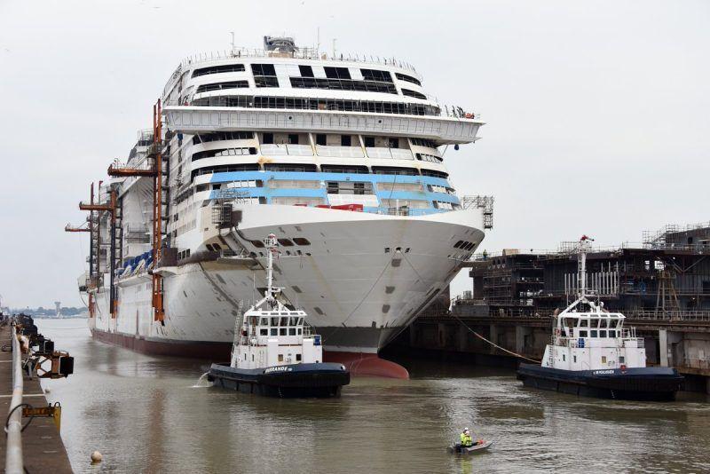 "MSC Cruises celebrates the float out of ""Grandiosa""; she ..."