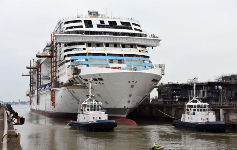 "MSC Cruises celebrates the float out of ""Grandiosa""; she ..."