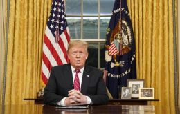 In an eight-minute address on Tuesday night carried live by all major US television networks, Trump said the federal government remained shut because of Democrats