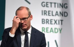 "Simon Coveney warned the British Government that time for ""wishful thinking"" is over if it wants to avoid crashing out of the European Union."