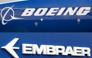 The deal follows a similar tie up by Boeing's rival Airbus which bought Bombardier Inc's commercial plane division that competed with Embraer.