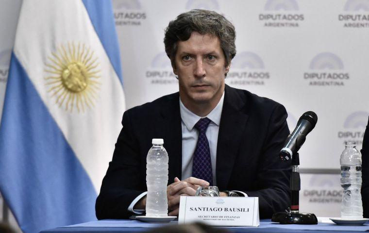 """I don't think the relative value between Argentina and other similar credits is at a balanced level,"" said finance secretary Santiago Bausili"