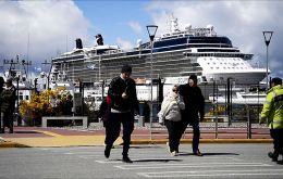 "The ""Celebrity Eclipse"" was among the vessels calling at Ushuaia"