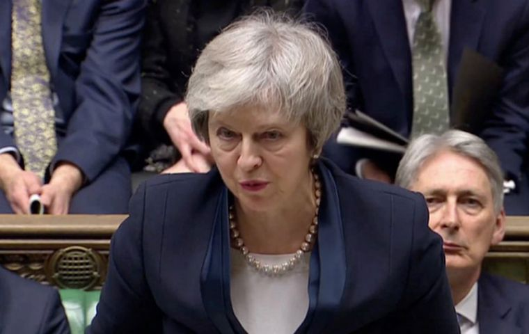 The defeat is a massive blow for Mrs May and throws yet more doubt on the Brexit process. The date for Brexit is only two and a bit months away