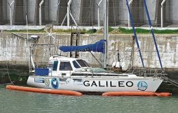 "The ""Galileo"" left from Bahía Blanca this week and is expected at Ushuaia sometime between 24/26 January, some 2.000km navigation"