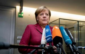 "German Chancellor Angela Merkel said there was still time to negotiate but ""we're now waiting on what the prime minister proposes"""