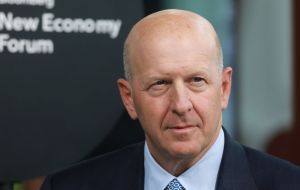 CEO David Solomon apologized but also distanced the bank from the scheme, which saw billions embezzled from the state development fund, 1MDB