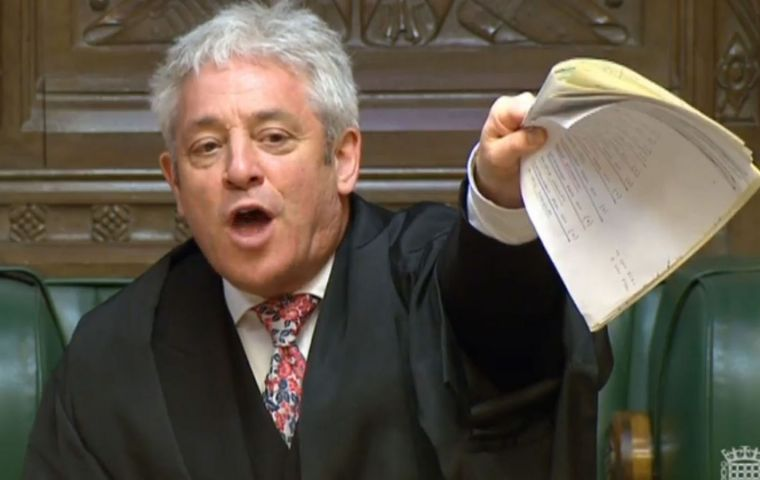 "Ministers are furious at what they see as John Bercow's ""bias"" during Commons debates on Brexit, and would block a peerage for him"