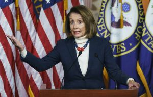 On Wednesday Mrs Pelosi had urged Mr Trump to postpone his State of the Union address, amid political deadlock.