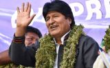 Evo Morales, a former leader of a coca-growers' union, has won three elections fairly and by large margins. He hopes to win a fourth in October