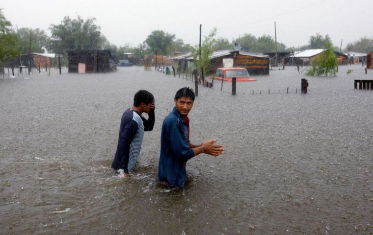 The flooded region, which extends into Paraguay, Uruguay and Brazil, has received about five times more rain than expected since the beginning of the year