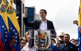 Guaido became leader of the opposition in the legislature last year, and was sworn in as president of the National Assembly, just last month