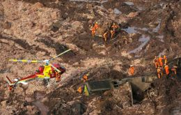 Seven bodies had been recovered, said Avimar de Melo Barcelos, mayor of the town of Brumadinho where the dam burst in the state of Minas Gerais
