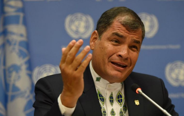 Ecuador faces liquidity problems due to a bulky fiscal deficit and hefty external debt produced during the government of former President Rafael Correa