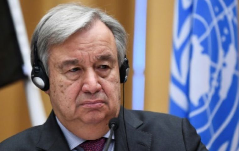 The talks with Guterres at the United Nations came five days after Venezuelan Opposition Leader Juan Guaido declared himself interim president