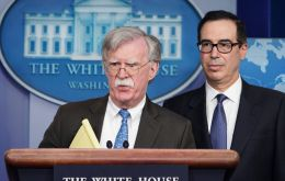 "National security adviser John Bolton tweeted that traders should not deal in gold, oil or other commodities ""being stolen"" from the Venezuelan people"