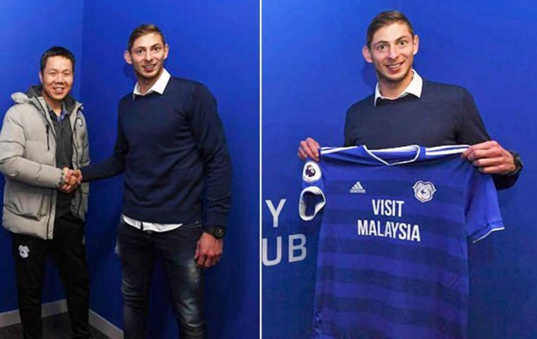 Cardiff had signed Sala for a club record of £15m and he was due to start training last month