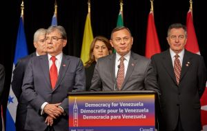 "The Ottawa declaration ""reiterate their recognition and support for Juan Guaidó"" as interim president of Venezuela"