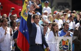 Juan Guaidó, president of the National Assembly recognized as interim president by some countries