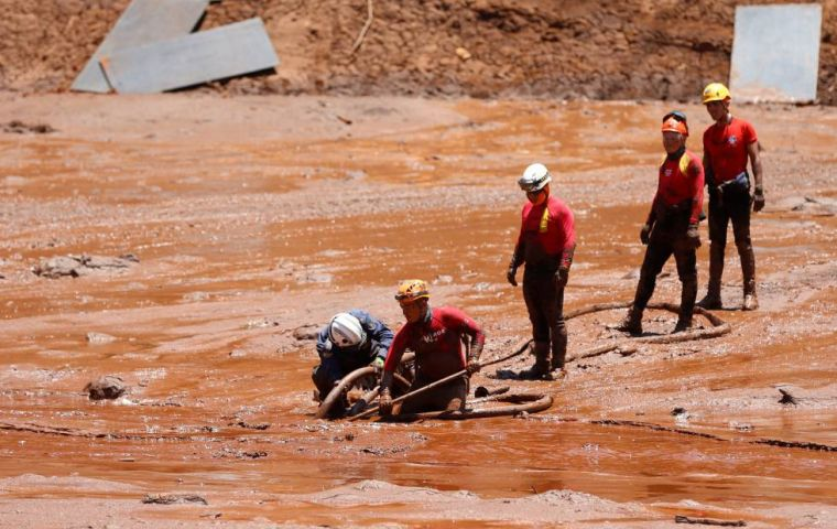 The disaster at the tailings dam at Vale's Corrego do Feijao iron ore mine in Minas Gerais killed at least 135 people, with 200 still missing