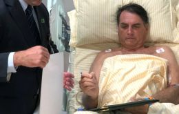 In social networks Bolsonaro showed himself involved in physiotherapy exercises.
