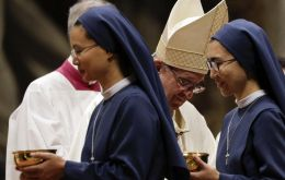 "It is thought to be the first time Pope Francis has acknowledged the sexual abuse of nuns by the clergy. He admitted the problem but said it was ""still going on"""