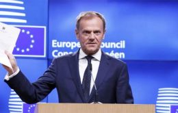 "Tusk spoke of a ""special place in hell"" for ""those who promoted Brexit without even a sketch of a plan of how to carry it out safely"""