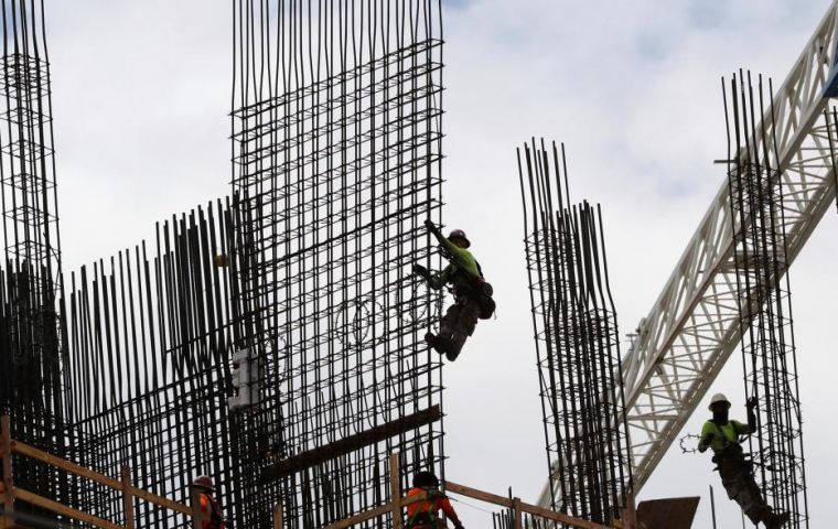 In December compared to a year before construction activity plummeted 20.5%, after a vigorous start. (AP)