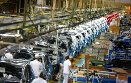 Automobiles and auto-parts production were down 25.1%, and farm machinery 48.3%, according to Indec's release