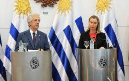 """It is essential to avoid internal violence and external intervention"" through ""free and transparent"" elections, said Mogherini"