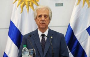 "Uruguayan president Tabare Vazquez and host of the meeting said ""the biggest dilemma facing Venezuela is between peace and war"""