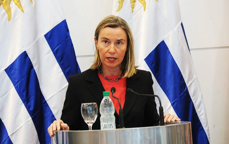 EU Foreign Policy chief Federica Mogherini said a resolution ultimately must come from the people of Venezuela.
