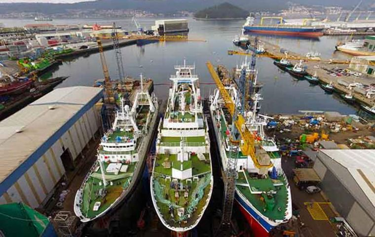Nodosa signed a contract with Spain's Pescapuerta Group to build a new freezer stern trawler for fishing in the South Atlantic