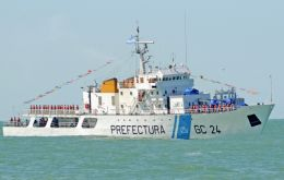 "Coast Guard patrol GC-24 Mantilla detected the ""O Yang"" trawling its nets in Argentina's EEZ, according to the official release"