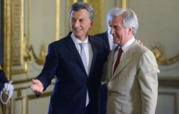 Vazquez and Macri will meet on Wednesday at the Anchorena park, a twenty minutes helicopter flight from Buenos Aires