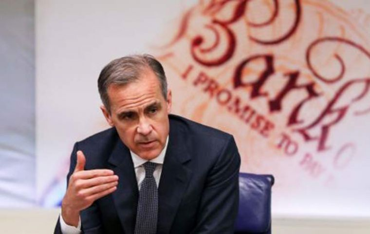 "Mark Carney said trade tensions and Brexit are ""manifestations of fundamental pressures to reorder globalization""; quitting the bloc could undermine expansion"