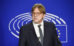 But Guy Verhofstadt, the European Parliament's Brexit point-man, said he has yet to hear of a proposal to break the deadlock