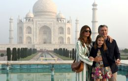 Macri arrived in India on Saturday and was first flown to Agra to visit the Taj Mahal. From there to New Dehli ahead of  round of political contacts on Monday