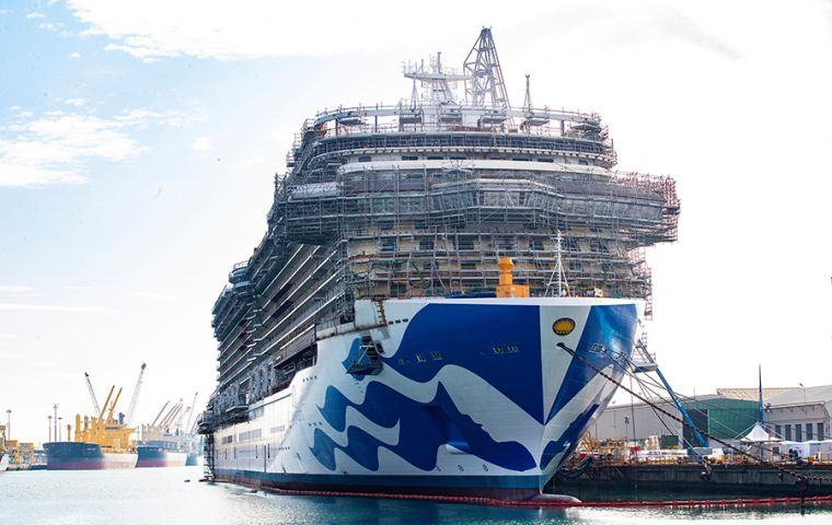 With two further ships on order for delivery in 2023 and 2025, Princess Cruises will increase its capacity by 32% over the next six years.